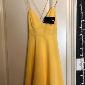 Yellow flat dress